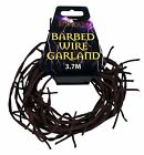 3.7M FAKE BARBED WIRE GARLAND FANCY DRESS ACCESSORY HALLOWEEN DECORATION PROP