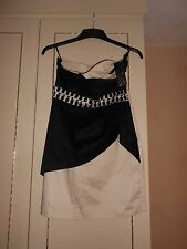 Strapless Designer Dress by tfnc LONDON: BNWT: Size L (see below for measurement