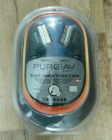 BELKIN PURE AV SCART AUDIO VIDEO CABLE BRAND NEW 2.4M GOLD PLATED FREE UK POST
