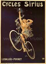 CYCLES SIRIUS 1899 Vintage French Advertising Poster Giclee Canvas Print  20X28