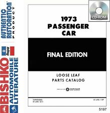 1973 Chrysler Plymouth Dodge Part Numbers Book CD Interchange Drawings OEM Guide