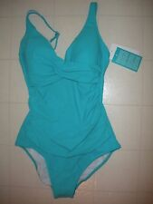 Profile by Gottex Aqua Tutti Frutti 1 PC V Neck Swimsuit Size 12  NWT