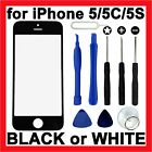 Replacement LCD Screen Front Glass Lens Panel + Tools for Apple iPhone 5 5C 5S