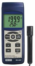 Reed SD-4307 Conductivity, TDS, and Salinity Meter with Data Logger