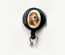 DOG Retractable ID Badge Reel Holder Key Chain Springer English Welsh Spaniel