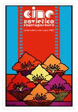 Cuban movie Poster for film Contemporary Soviet Cinema.Cine Russian.CINEMATECA
