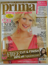 Prima Magazine July 2009. 88 easy ways to get gorgeous summer hair. SimplyDivine