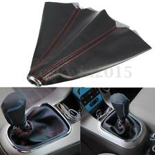 PU Leather TRD Red Stitch Gear Shift Knob Gaiter Glove Cover for JDM Toyota