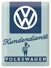 Blechschild VW Kundendienst 30x40 cm Volkswagen Oldtimer NEU/OVP Golf Käfer GTI