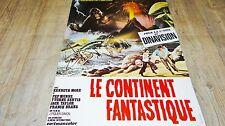 LE CONTINENT FANTASTIQUE  ! affiche cinema 1977