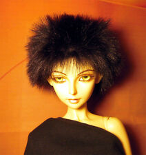 Black fake fur size 8-9 wig for Luts Delf, 1/3 bjd DOLL