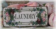 "~ ""LAUNDRY"" ~ Vintage ~ Shabby Chic ~ Country Cottage style ~ Wall Decor Sign ~"