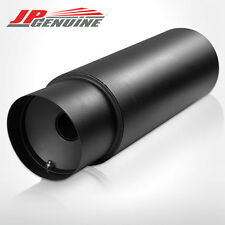 "4.5"" SLANT TIP 3"" INLET N1 STYLE BLACK ROUND MUFFLER W/ SILENCER FIT UNIVERSAL"