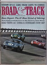 Road & Track Motor Enthusiasts' Magazine June 1964 See My Store