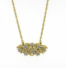 Buccellati 18k Gold Flower Motif Pendant Necklace