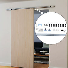 HOMCOM 6.1' Sliding Barn Wood Door Hardware Kit Track Rail Modern Hang Style Set