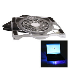 "Great 1 Fan USB Notebook Cooling Pad Stand for 15"" Laptop Cooler Crystal White"