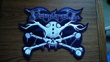 FINNTROLL + LOGO,SEW ON WHITE EMBROIDERED LARGE BACK PATCH