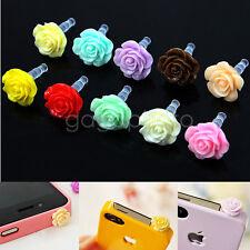 10X Bouchon Prise Fleur Anti-poussière Cache Casque 3.5mm pr iphone Samsung ipod