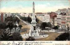 Portugal Lisboa - Vista geral da Avenida da Liberdade vista do Sul 1905