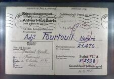 Camp Stalag VIIA Moosburg 1942 POW Prisoner France Kriegsgefangenenpost K89a