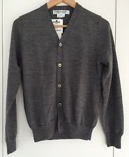 Lovely Comme des Garcons grey 100% wool cardigan, size 3/M, new, with tags