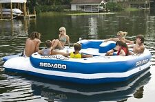Sea Doo Mega Island 8 Person Inflatable Party Raft Water Lake Float w 2 Coolers