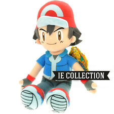 POKEMON ASH KETCHUM 30 CM PELUCHE pupazzo pokeball sole luna doll plush cappello