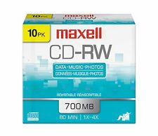 Maxell 630011 4x CD-RW Media -120mm -1.33 Hour Maximum Recording Time MINUTES