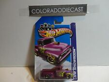 2013 Hot Wheels #211 Purple Custom '56 Ford F-100 Pickup w/Gold 5 Spoke  Wheels