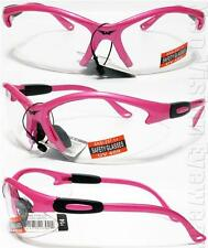 Global Vision Cougar Hot Pink Clear Womens Safety Glasses Motorcycle Z87+