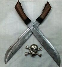 Custom Handmade Knife King's Damascus Filipino Machete Swords