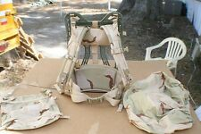 5PC MOLLE GEN 4 FRAME W/ DESERT SHOULDER PADS +  KIDNEY PAD + PAC COVER + POUCH