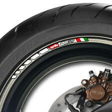 8 x APRILIA RS 125 STRIPE WHEEL RIM STICKERS DECALS- mille rsv RS125