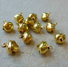 50 pcs - 12 mm gold jingle bells Charm Christmas Pendant
