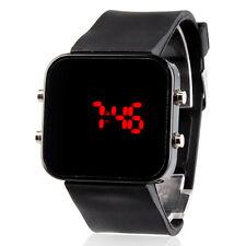 Luxury Men's Women Black Stainless Steel Date Digital LED Bracelet Sport Watches