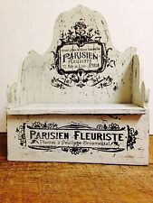 French Flower Seed Box Distressed Shabby Wooden Box, Parisian Fleuriste Storage