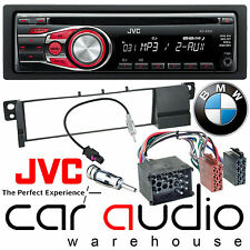 Bmw Serie 3 E46 1998-02 Jvc Auto Stereo Cd Mp3 Radio Aux Reproductor Rojo Kit De Pantalla