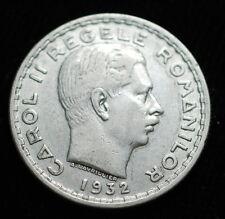 1932 ROMANIA  100 LEI  SILVER COIN  CAROL II
