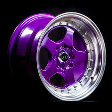 NEW JNC 010 WHEELS 15X8 4X100/4x114.3 +20 OFFSET CANDY PURPLE SET OF 4 RIMS