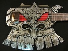 Gene Simmons Cort Axe Bass  - Custom Painted by Gentry Riley - Silver Dragon