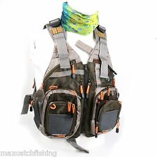 Fly Fishing Vest Multi-pocket Mesh Quick-dry Size Adjustable And Anti-UV Scarf
