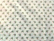 Vintage 1970's Sanderson Cotton Interiors Fabric Panel 'Beth' Cream Background