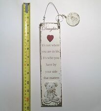 Daughter Teddy Bear Wall Plaque & Key Ring Gift Ideas for  Her For Birthdays