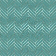 Rasch Teal Chevron Wallpaper Kitchen Bathroom Tiling on a Roll 888218