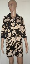 BOOHOO, SIZE 10, BLACK & WHITE FLORAL CUFF & COLLAR SHIRT DRESS, BNWT, RRP £21