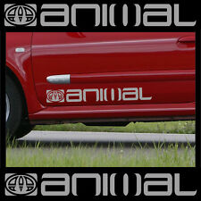2 x LARGE ANIMAL LOGO car graphic sticker decals Vinyl camper van surf C