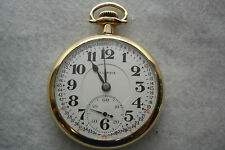 ILLINOIS POCKET WATCH 16 SIZE, 23J BUNN SPECIAL MODEL 9, RR GRADE, VINTAGE 1916