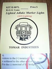 Tomar HO Scale Adlake Marker Lights with LEDs! Green-Green-Red H807L BTTG
