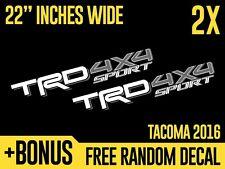 (2x) TRD 4x4 SPORT Toyota Tacoma Tundra 2016 Vinyl Decals Stickers